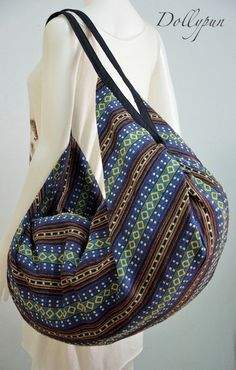 Nepali Fabric Design Hippie Shoulder Bag Gypsy Bag by Dollypun
