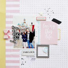 Happy Layout by Kim Jeffress | @FelicityJane
