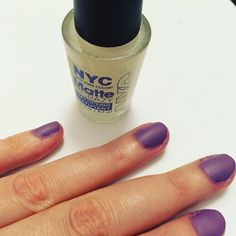 Loving matte me crazy by @newyorkcolor ! A top coat that goes over a normal nail polish to create a matte effect. My mani could be neater but otherwise very happy with how simple this was to do. #nyccosmetics #newyorkcolor #matte #mattenails #purplenails #rimmel #nails #nails #nailpolish #nailpolishaddict #nailvarnish #makeup #beauty #bblogger #purple