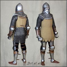 Nice armor Basinet helm or helmet  Brigandine plate and chain mail armor for knight or foot combat 14th 15 th century