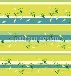 Ines designed by Martina Stadler available on patterndesigns.com Striped Background, Spring Blossom, Yellow Stripes, Repeating Patterns, Vector Pattern, Surface Design, Floral, Art, Art Background