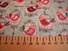"""Tissu MAKOWER """"CATS BIRDCAGE"""" de L'Atelier de la Souris sur DaWanda.com"""