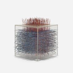 Irving Harper, Untitled, coated wire and plexiglas construction •