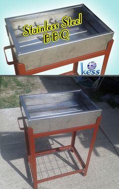 DIY a Stainless Steel (AISI 304) Barbecue with double layer bottom.