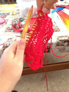 Happy Day #43 – Pencil Knitting