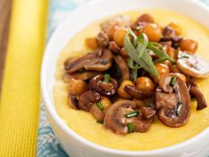 Velouté de maïs d'aucy aux champignons