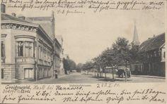 Greifswald Bahnhofstrasse s/w gest.1904 | eBay