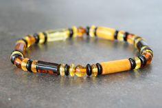 Baltic amber bracelet for men