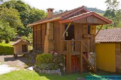 O chalé de madeira, chalé individual requisitadissimo da Pousada Fazenda Rio das Pedras