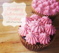 Strawberry Buttercream Frosting - Refined Sugar Free, Pink Frosting With Real Strawberries!