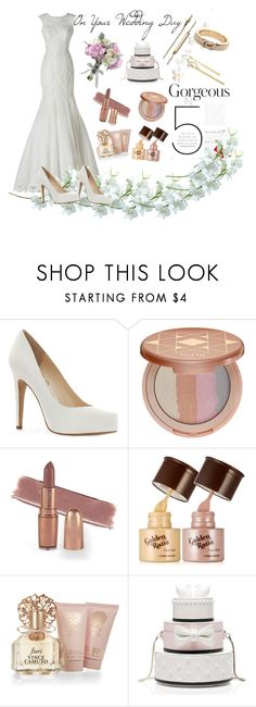 """Gorgeous on Your Wedding Day"" by tdncreations ❤ liked on Polyvore featuring Avance, Jessica Simpson, tarte, Vince Camuto and Kate Spade"