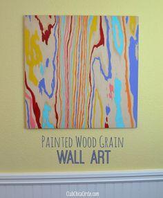 Wood Grain Colorful Wall Art DIY by Club Chica Circle