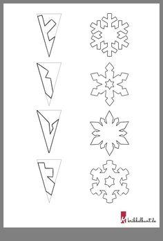 Schneeflocken basteln – Weihnachtsbasteln Mit Kindern Kita – Tinker snowflakes – Christmas crafts with children Kita – Paper Snowflake Template, Snowflake Craft, Christmas Snowflakes, Diy Snowflakes, Paper Snowflake Patterns, Making Paper Snowflakes, How To Make Snowflakes, Frozen Snowflake, Snowflake Garland