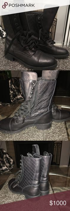Chanel Moto Boots Excellent Used Condition, only worn 4 times, 4 years old CHANEL Shoes Combat & Moto Boots