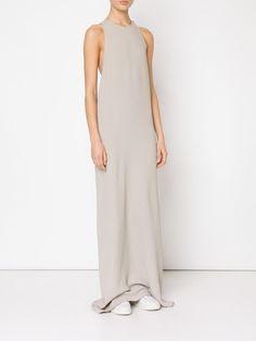 Baja East длинное платье без рукавов