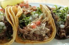 Mad Mexican Carnita Tacos, garnished with Pico de Gallo Mexican Food Catering, Real Mexican Food, Mexican Food Recipes, Ethnic Recipes, Taco House, Mexican Tacos, The Fresh, Toronto, Mad