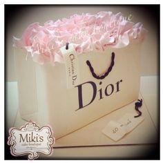 Dior shopping bag cake