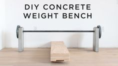 DIY Concrete Weight Bench - YouTube