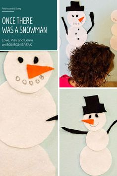 Once There Was A Snowman - felt board and song