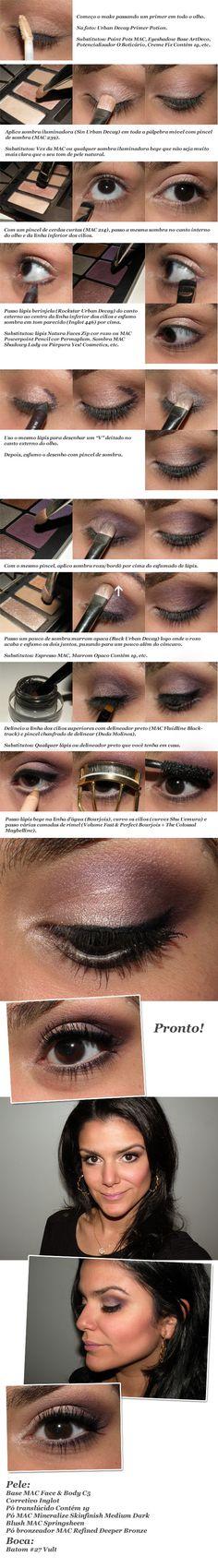 UD Naked Palette with purple eyeshadow tutorial