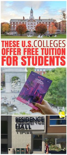 Colleges Offer Free Tuition for Students Avoid student debt completely by attending a tuition-free college or university based in the United States (U. Here's a list of tuition-free colleges. Grants For College, College List, Financial Aid For College, College Planning, College Essay, Scholarships For College, College Hacks, Education College, College Checklist