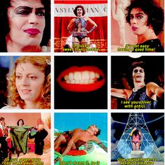 Rocky Horror Picture Show  Probably the weirdest but most entertaining movie/musical out there <3