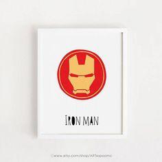 Digital print  Iron man art for kids art Printable Nursery