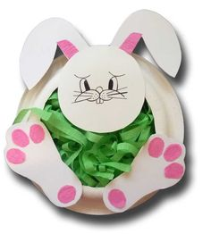 Paper Crafts for Children » Paper Plate Easter Bunny Basket