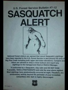 Sasquatch alert