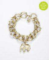 Elephant Charm Bracelet  - Ann Taylor is proud to support St. Jude Children's Research Hospital® and its mission of finding cures and saving children. Inspired by the iconic elephant, a symbol of family, strength and good luck, we designed this Limited Edition Elephant Jewelry Collection. 50% of the purchase price of these pieces will be donated to St. Jude from November 14, 2014 to January 31, 2015. This collection is excluded from any promotional offers. Donations will be given on ...