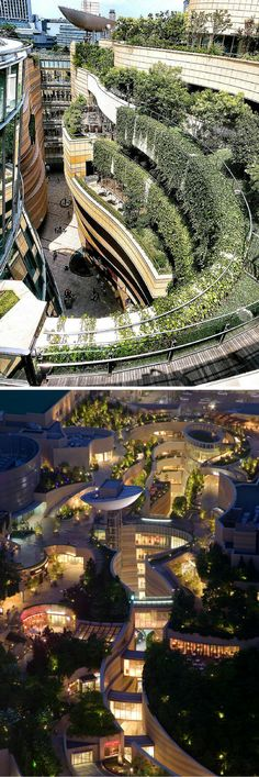 Namba Parks, Japan is designed as a natural amenity that provides a peaceful and serene environment for the hard and busy city.