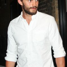 JAMIE DORNAN The stupid hot actor looks fifty shades of sexy as he leaves a restaurant in London. #jamiedornan #50shades
