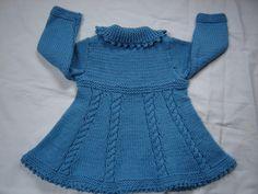 Baby Girl Toddler Sweater Coat Swing Style Hand Knit Crochet Size 12M - 18M. $55.00, via Etsy.