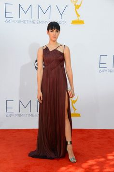 See What Everyone Wore on the 2012 Emmys Red Carpet: Jena Malone in J. Mendel