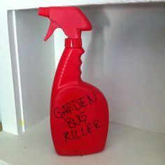 Homemade bug killer for your vegetable garden!  Add 2 cups boiling water to 4 Tbsp Cayenne pepper. Let sit for 15 mins then strain. Bring mixture to room temp then put in your sprayer and add 1 Tbsp dishwashing soap. You can also add 1 clove of garlic if you choose. Let sit for 24 hrs and it's ready to use- works great on almost all your young veggies in the garden, especially good for worms and aphids. Keep refrigerated and it'll last a couple of weeks. Super cheap and easy to make!