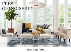 Discover Williams Sonoma Home's fresh chinoiserie collection for room ideas and inspirations. Shop our fresh chinoiserie room for furniture and decor to master this style. Living Room Inspiration, Home Decor Inspiration, Decor Ideas, Outdoor Furniture Sets, Outdoor Decor, Home Decor Shops, Bedding Shop, Furniture Collection, Chinoiserie