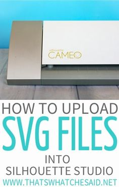 Easily add SVG files, patterns, and images into Silhouette studio to use with your Silhouette cutting machine! Quick step by step tutorial. Silhouette Cameo Software, Silhouette Cameo Vinyl, Silhouette Cutter, Silhouette School, Silhouette Cameo Tutorials, Silhouette Curio, Silhouette America, Silhouette Machine, Silhouette Projects