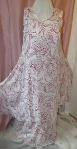 Jacques Ruc LagenLook Layered Fly Angel Dress with Under dress 100% Cotton Flora  | eBay