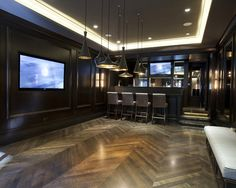 Concrete Floors In Basement Design, Pictures, Remodel, Decor and Ideas - page 20