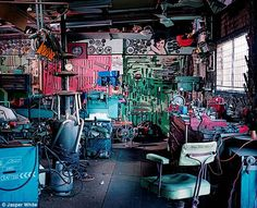 A working man's shed is not just a place to store tools, it's his kingdom, and photographer Jasper White has superbly captured the individual portrait these backyard structures paint of their creators.