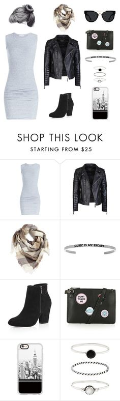 """""""Going Downtown For The Night"""" by mihaliakt1 on Polyvore featuring James Perse, BP., River Island, Topshop, Casetify, Accessorize, Quay and Fall"""