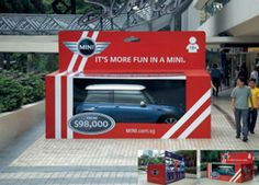 MINI car in a box looks like a toy...... - photo from mjakmarketing blog