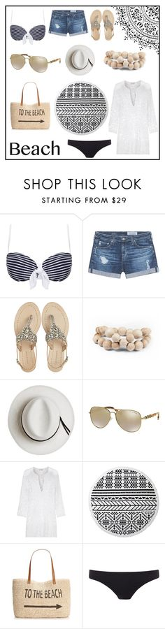 """""""~Beach Fun~"""" by casseyb ❤ liked on Polyvore featuring Heidi Klein, AG Adriano Goldschmied, Antik Batik, Hring eftir hring, Calypso Private Label, Michael Kors, Miguelina, The Beach People, Style & Co. and Paul Smith"""