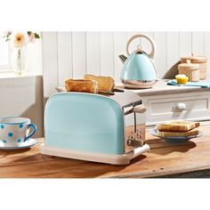 Start your morning right with the Prolex 2 Slice Toaster.  Take control of your breakfast and start the day just right.  Features:      2 slice slot     Variable browning control     Variable width bread slots     Removable crumb tray     4 function buttons: Bagel, Defrost, Reheat & Cancel. #homesweethome #home #homedecor #interior #interiordesign #design #homeinspo #pinit #pinterest #ideas #inspiration #bmstores #kitchen #toaster #pastel #pastelblue #blue