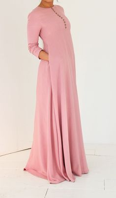 Flair abaya dress in oud roze