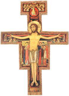 El Crucifijo de San Damián y San Francisco de Asís