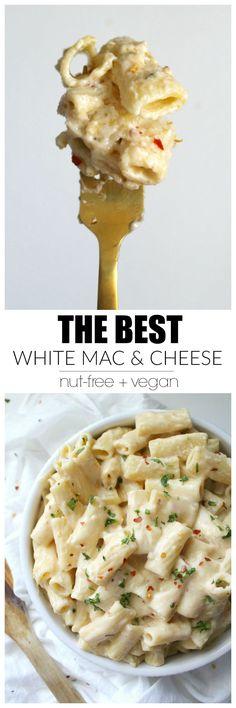 Best Vegan White Mac and Cheese , By Paula Michele . Creamy and comforting - this is hands down the Best Vegan White Mac and . Dairy Free Recipes, Veggie Recipes, Whole Food Recipes, Vegetarian Recipes, Cooking Recipes, Healthy Recipes, Pasta Recipes, Gluten Free, Cheese Recipes