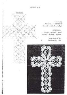 Bilderesultat for bobbin lace cross Hairpin Lace Crochet, Crochet Ripple, Crochet Cross, Thread Crochet, Crochet Motif, Crochet Edgings, Crochet Shawl, Bobbin Lace Patterns, Bead Loom Patterns