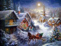 christmas paintings - Pesquisa Google