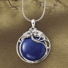 Sterling and Lapis Pendant - Women's Clothing, Jewelry, Fashion Accessories and Gifts for Women with a Flair of the Outdoors | NorthStyle